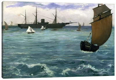 The Kearsarge at Boulogne by Edouard Manet Canvas Artwork