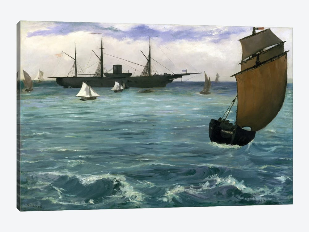 The Kearsarge at Boulogne by Edouard Manet 1-piece Art Print