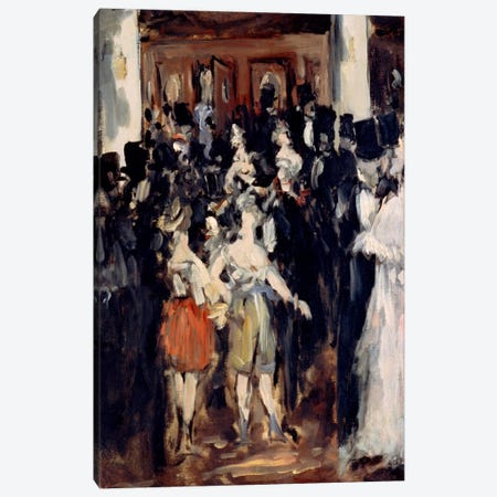 Masked Ball at The Opera Canvas Print #8024} by Edouard Manet Art Print