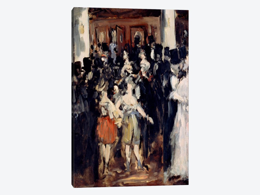 Masked Ball at The Opera by Edouard Manet 1-piece Canvas Print