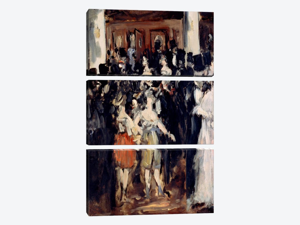 Masked Ball at The Opera by Edouard Manet 3-piece Art Print