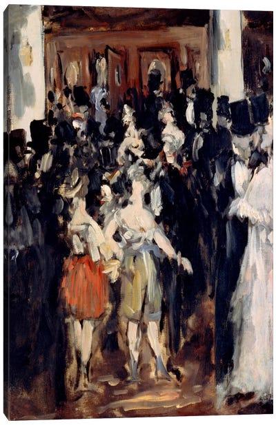 Masked Ball at The Opera Canvas Art Print