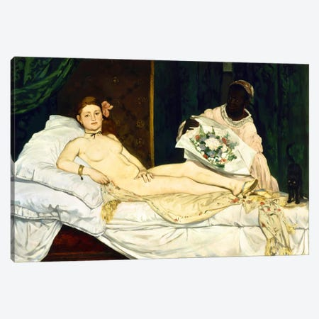 Olympia Canvas Print #8025} by Edouard Manet Art Print