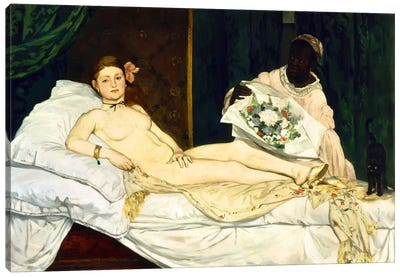 Olympia by Edouard Manet Art Print