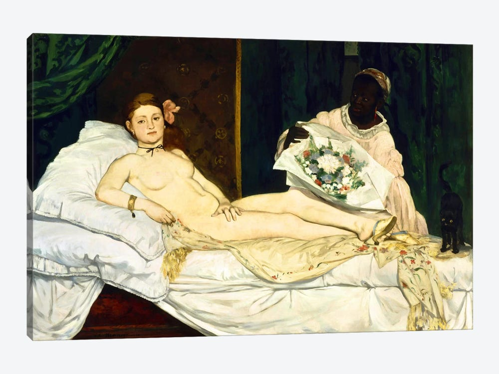 Olympia by Edouard Manet 1-piece Canvas Artwork