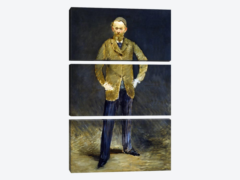 The Self Portrait by Edouard Manet 3-piece Canvas Art Print