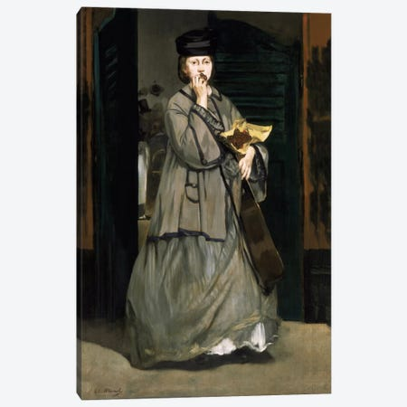 Street Singer Canvas Print #8030} by Edouard Manet Canvas Print