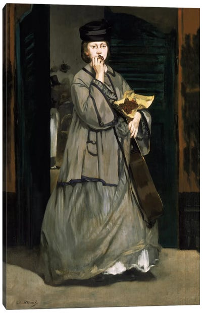 Street Singer by Edouard Manet Canvas Print