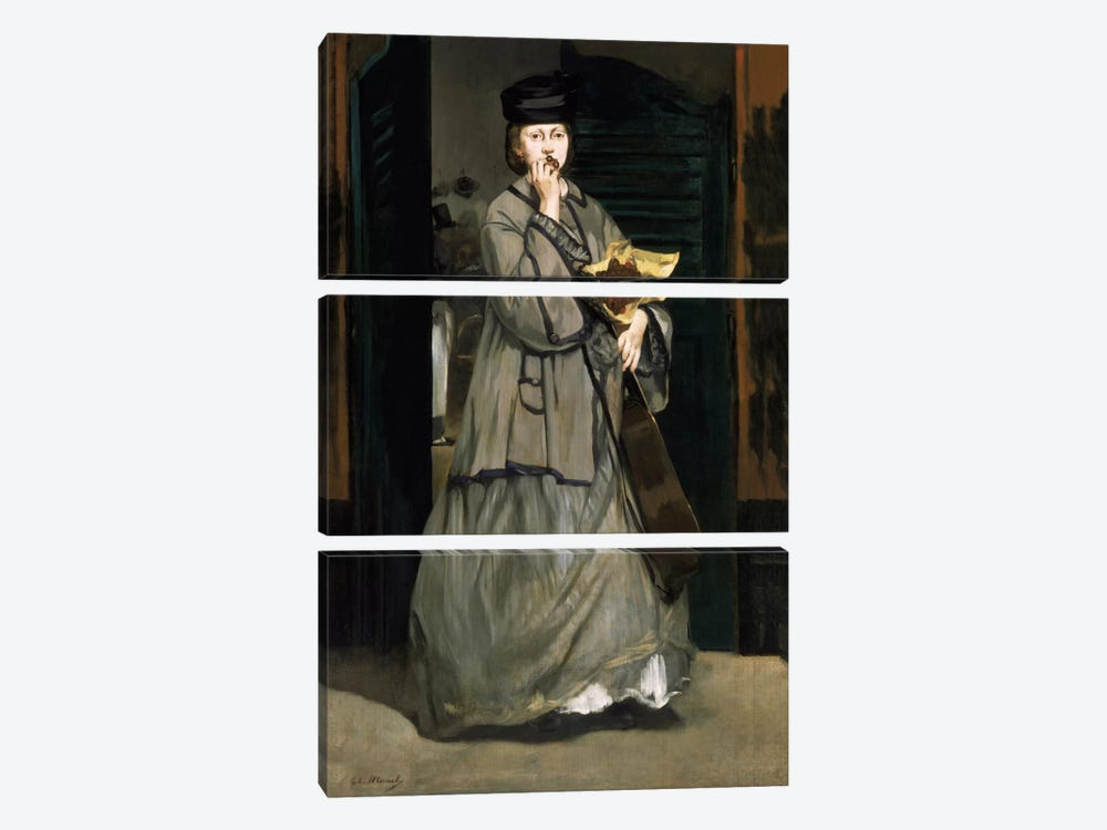 Street Singer by Edouard Manet 3-piece Canvas Artwork