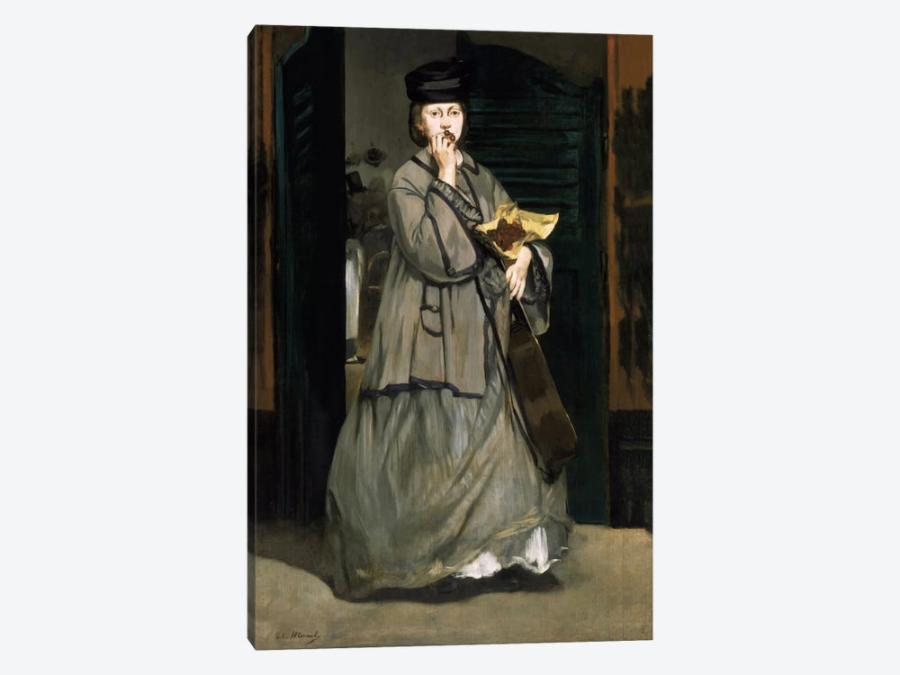 Street Singer by Edouard Manet 1-piece Canvas Wall Art