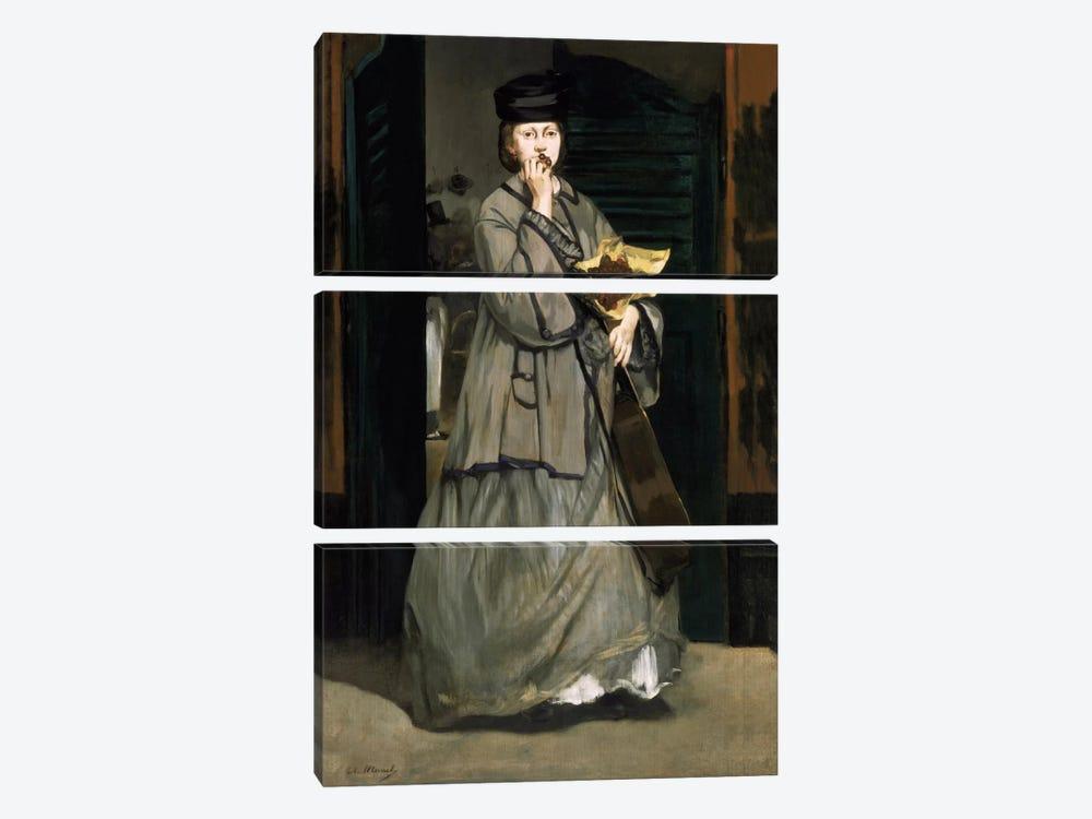Street Singer by Edouard Manet 3-piece Canvas Artwork