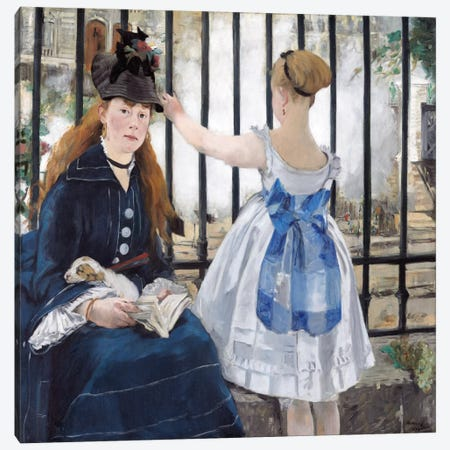 The Railway Canvas Print #8032} by Edouard Manet Canvas Print