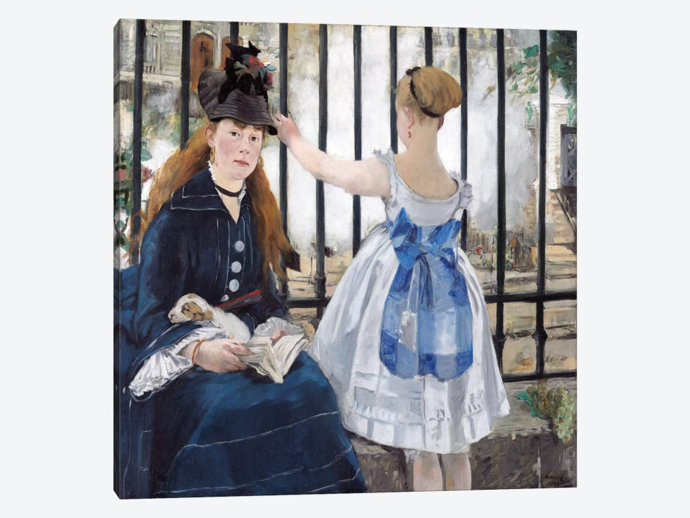 The Railway by Edouard Manet 1-piece Canvas Art