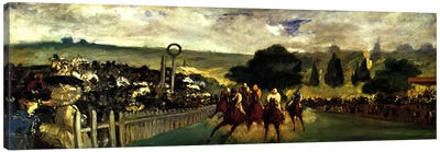 Races at Longchamp Canvas Art Print