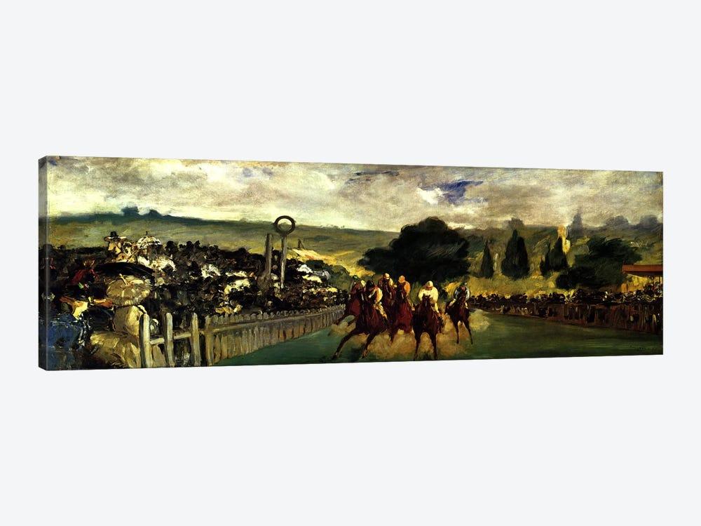 Races at Longchamp by Edouard Manet 1-piece Canvas Art