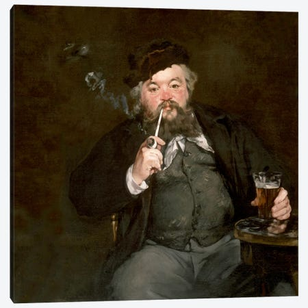 A Good Glass of Beer (Le Bon Bock) Canvas Print #8048} by Edouard Manet Canvas Art
