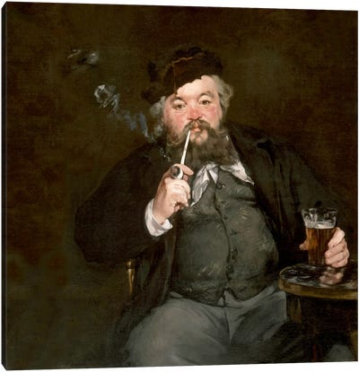A Good Glass of Beer (Le Bon Bock) by Edouard Manet Canvas Art