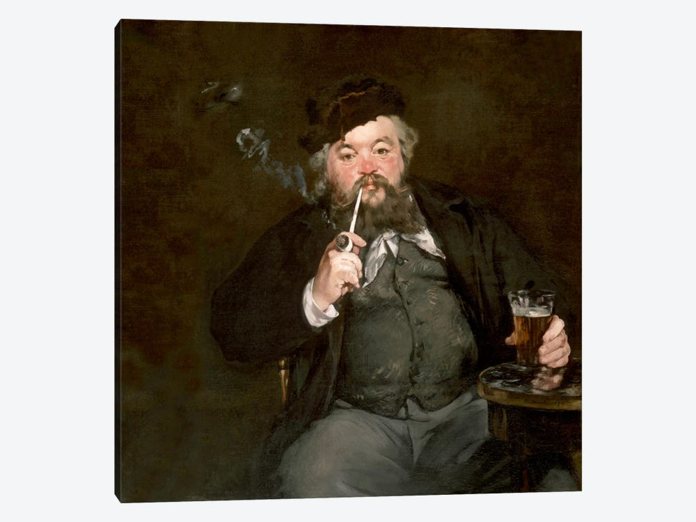 A Good Glass of Beer (Le Bon Bock) by Edouard Manet 1-piece Art Print