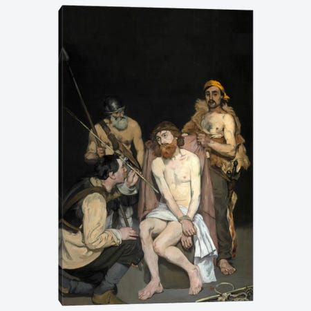 Jesus Mocked By The Soldiers Canvas Print #8053} by Edouard Manet Canvas Print