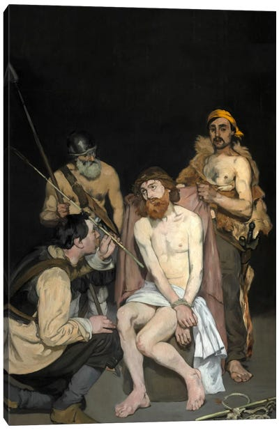 Jesus Mocked By The Soldiers by Edouard Manet Canvas Print