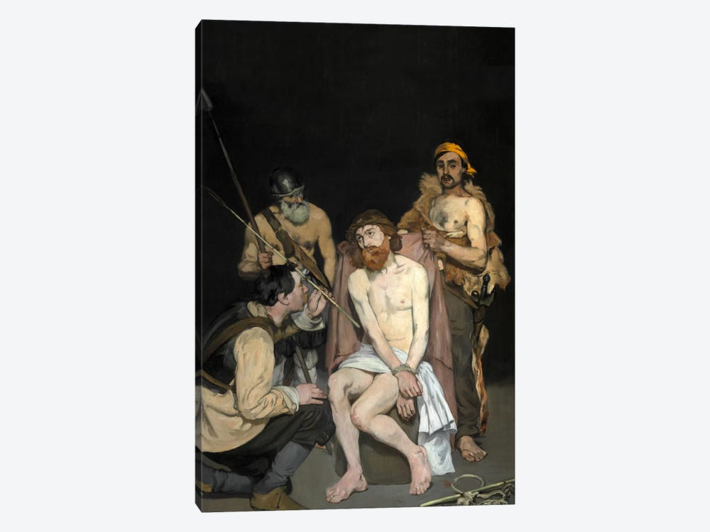 Jesus Mocked By The Soldiers by Edouard Manet 1-piece Canvas Art Print