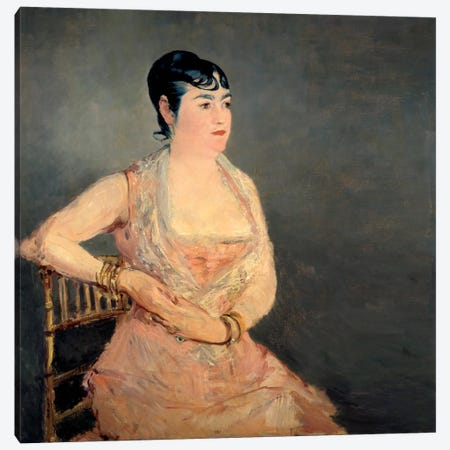 Lady in Pink Canvas Print #8055} by Edouard Manet Canvas Art