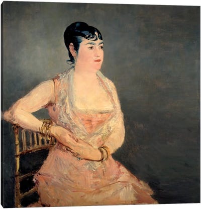 Lady in Pink by Edouard Manet Canvas Art