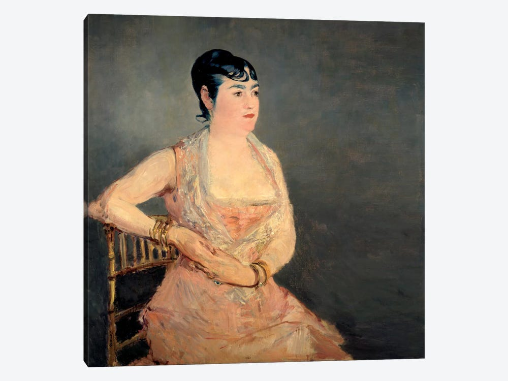 Lady in Pink by Edouard Manet 1-piece Art Print