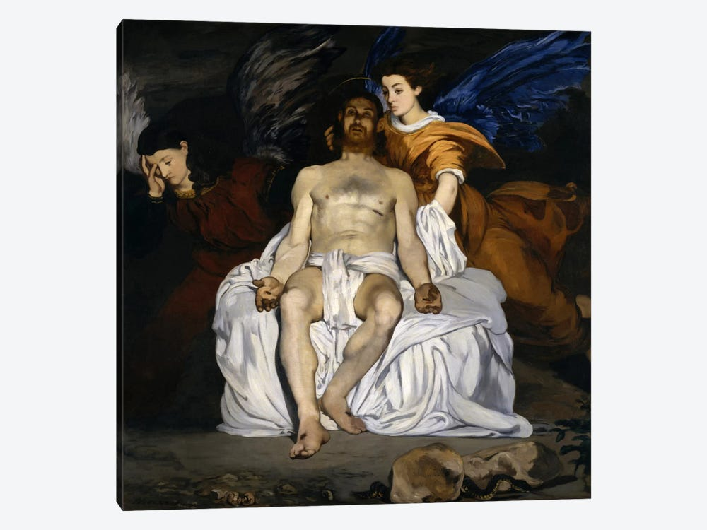 The Dead Christ with Angels by Edouard Manet 1-piece Canvas Wall Art