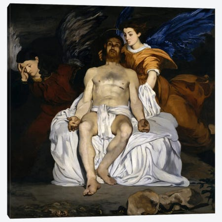 The Dead Christ with Angels Canvas Print #8056} by Edouard Manet Canvas Art