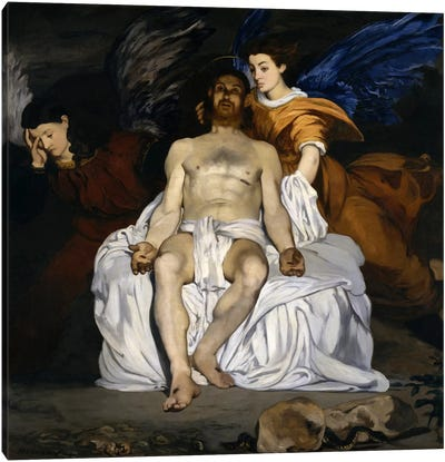 The Dead Christ with Angels Canvas Art Print