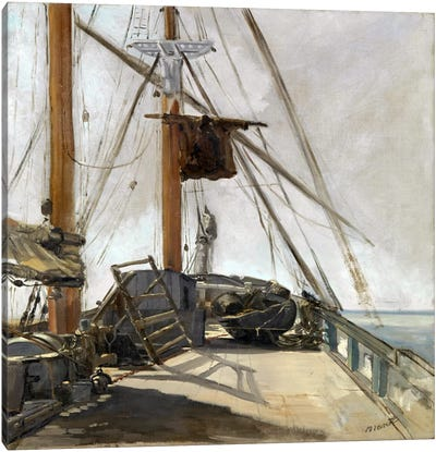 The Ship's Deck Canvas Art Print