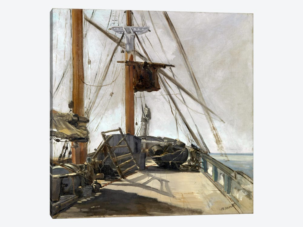 The Ship's Deck by Edouard Manet 1-piece Canvas Artwork