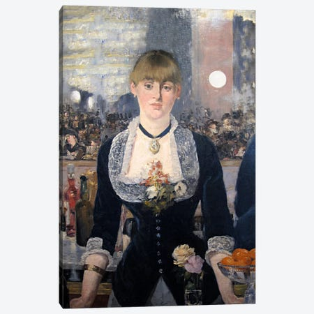 A Bar at The Folies Bergere Canvas Print #8070} by Edouard Manet Canvas Print