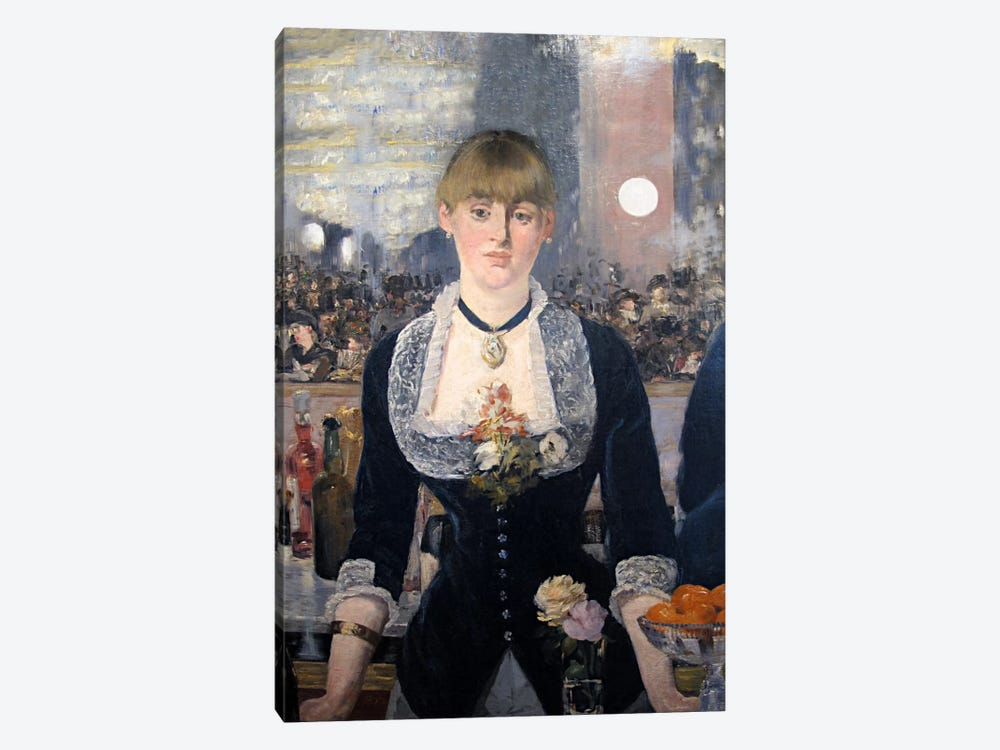 A Bar at The Folies Bergere by Edouard Manet 1-piece Canvas Art