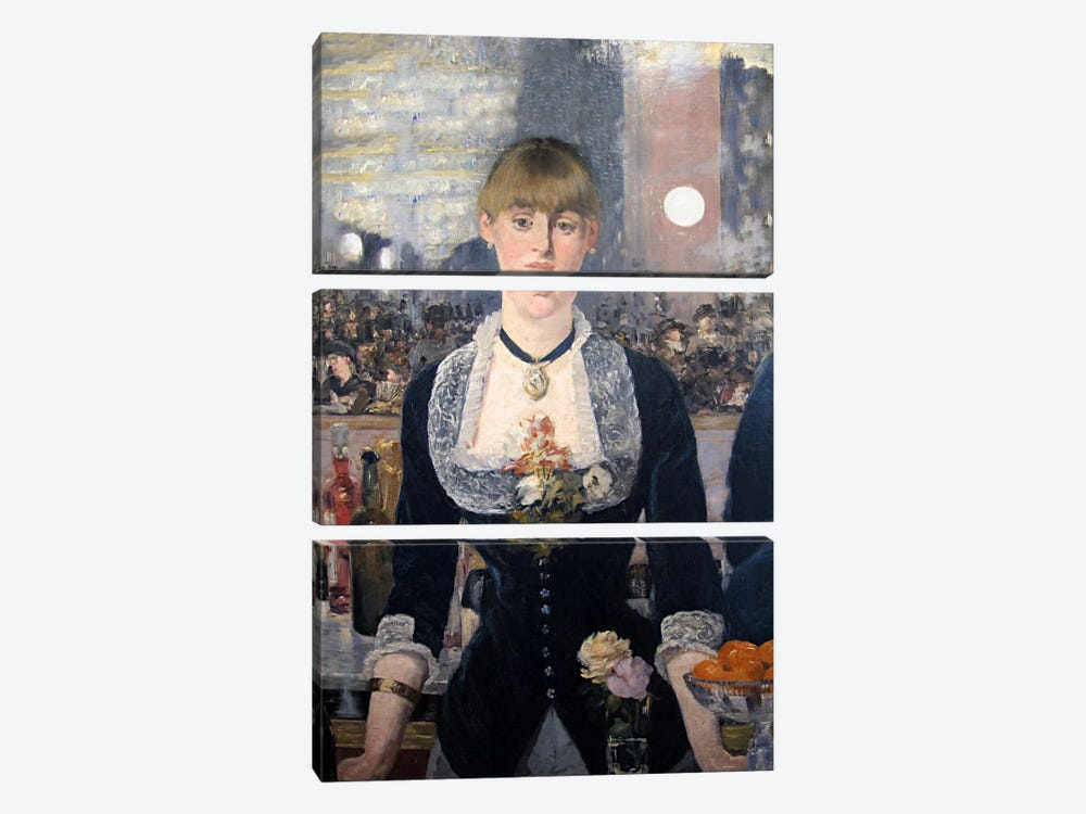 A Bar at The Folies Bergere by Edouard Manet 3-piece Canvas Art