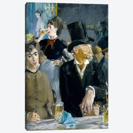 At The Café Canvas Print #8071} by Edouard Manet Canvas Print