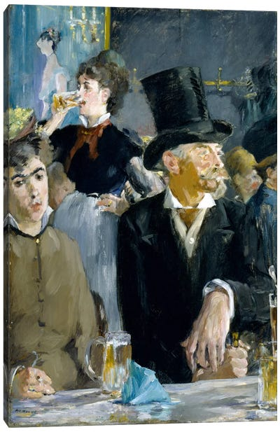 At The Café by Edouard Manet Canvas Print