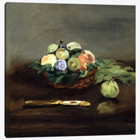 Basket of Fruit Canvas Print #8072} by Edouard Manet Canvas Print