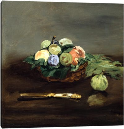 Basket of Fruit by Edouard Manet Canvas Print