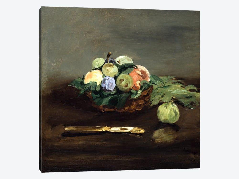 Basket of Fruit by Edouard Manet 1-piece Canvas Art