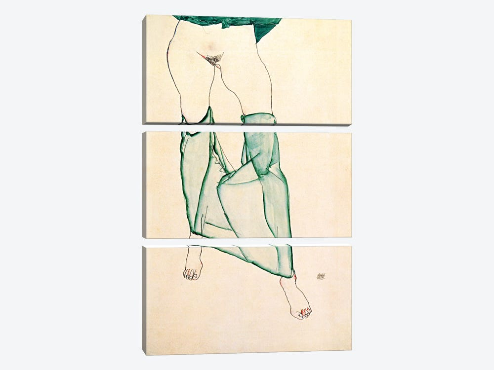 The Unsalvageable Ego by Egon Schiele 3-piece Canvas Artwork