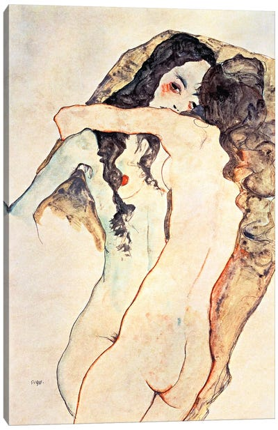 Two Women Embracing II Canvas Art Print