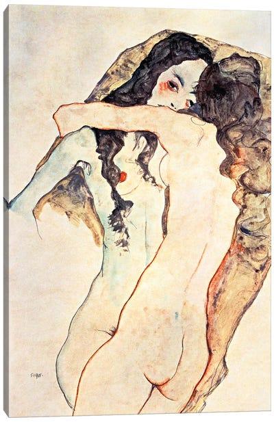 Two Women Embracing II Canvas Art Print