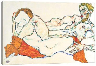 Lovers Canvas Art Print