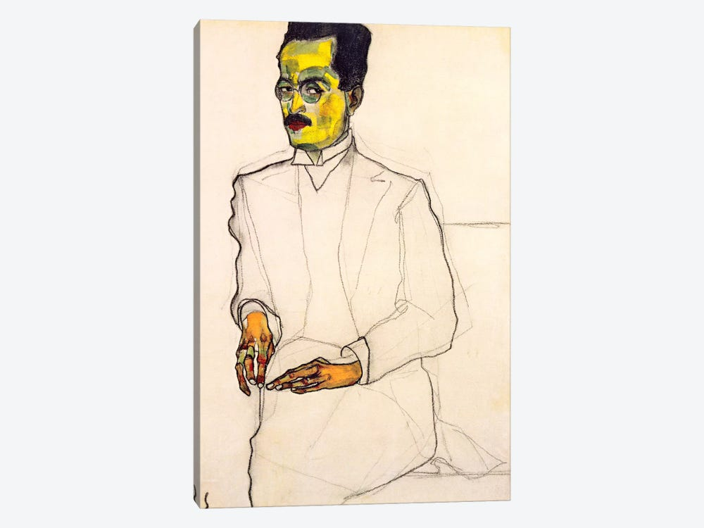 Portrait of a Gentleman by Egon Schiele 1-piece Canvas Wall Art