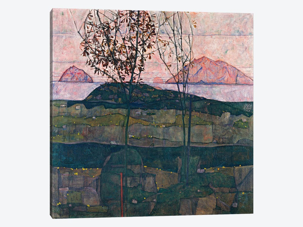 Setting Sun by Egon Schiele 1-piece Canvas Print
