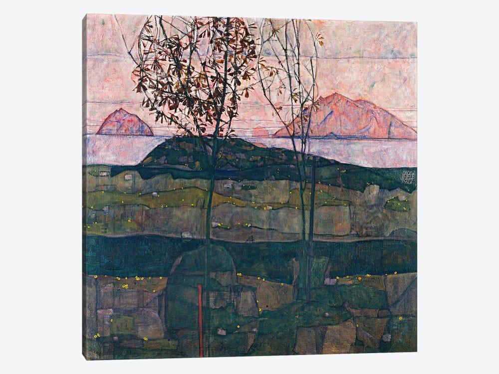 Setting Sun by Egon Schiele 1-piece Canvas Print