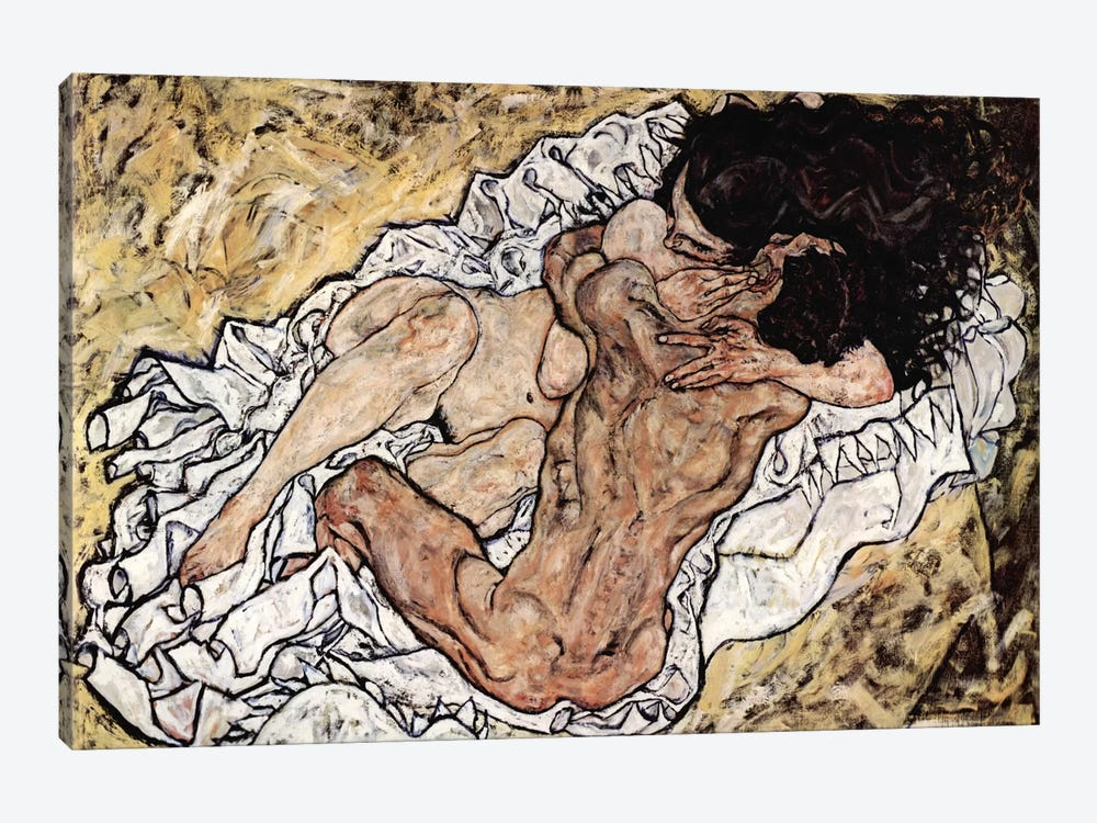 The Embrace (The Loving) by Egon Schiele 1-piece Art Print