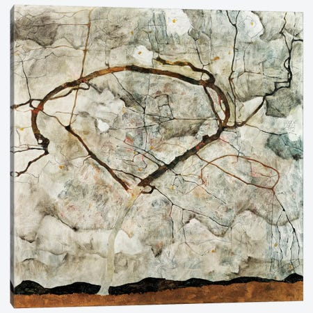 Autumn Tree in Movement Canvas Print #8176} by Egon Schiele Art Print